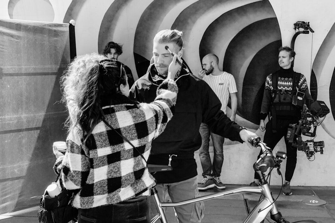 Making off Cortina video en fotografie